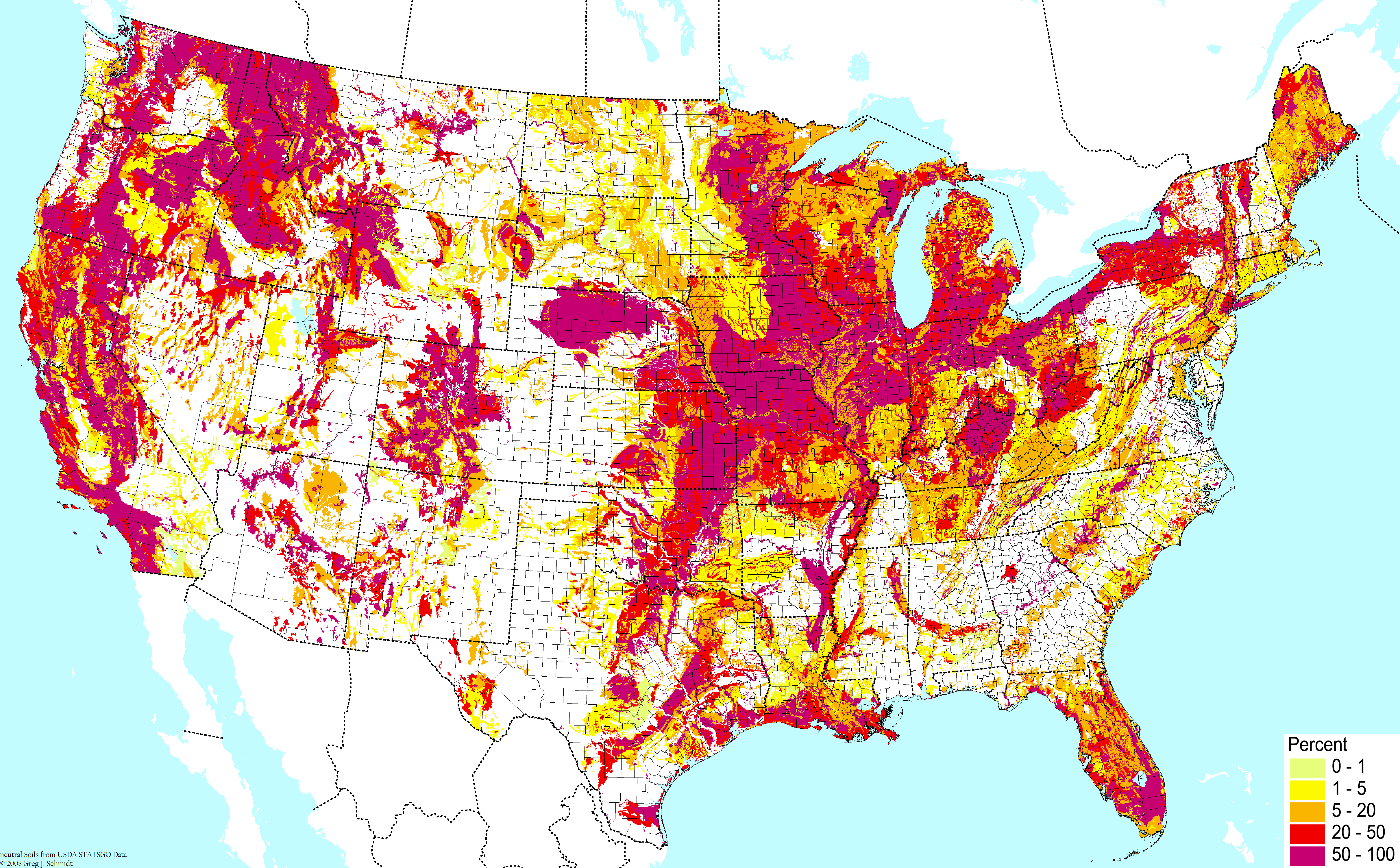 Soil Types - Map of us forest types