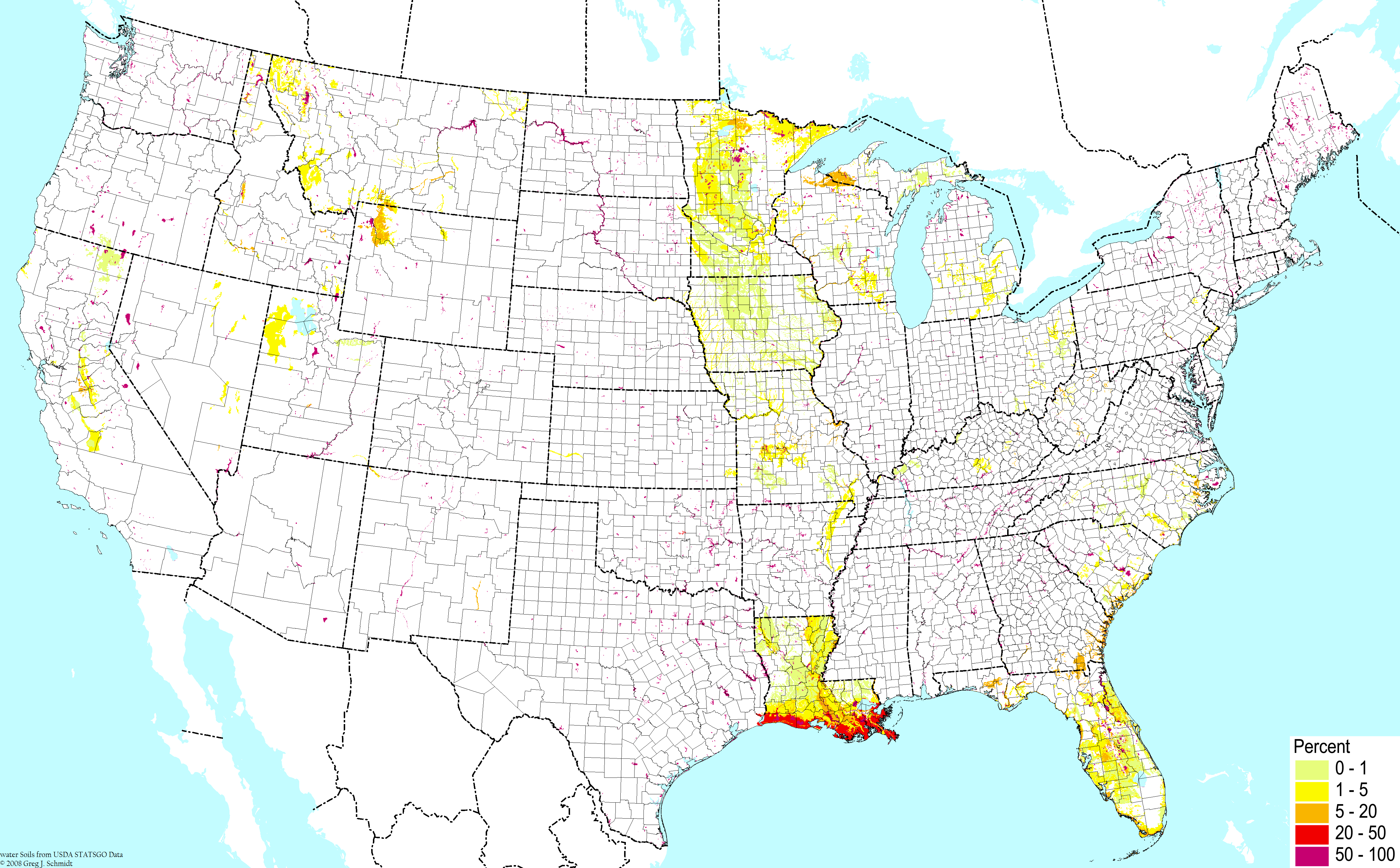 Soil Orders And Selected Suborders Of The United States Based On Soil Taxonomy Of The Usda Nrcs Cbonap